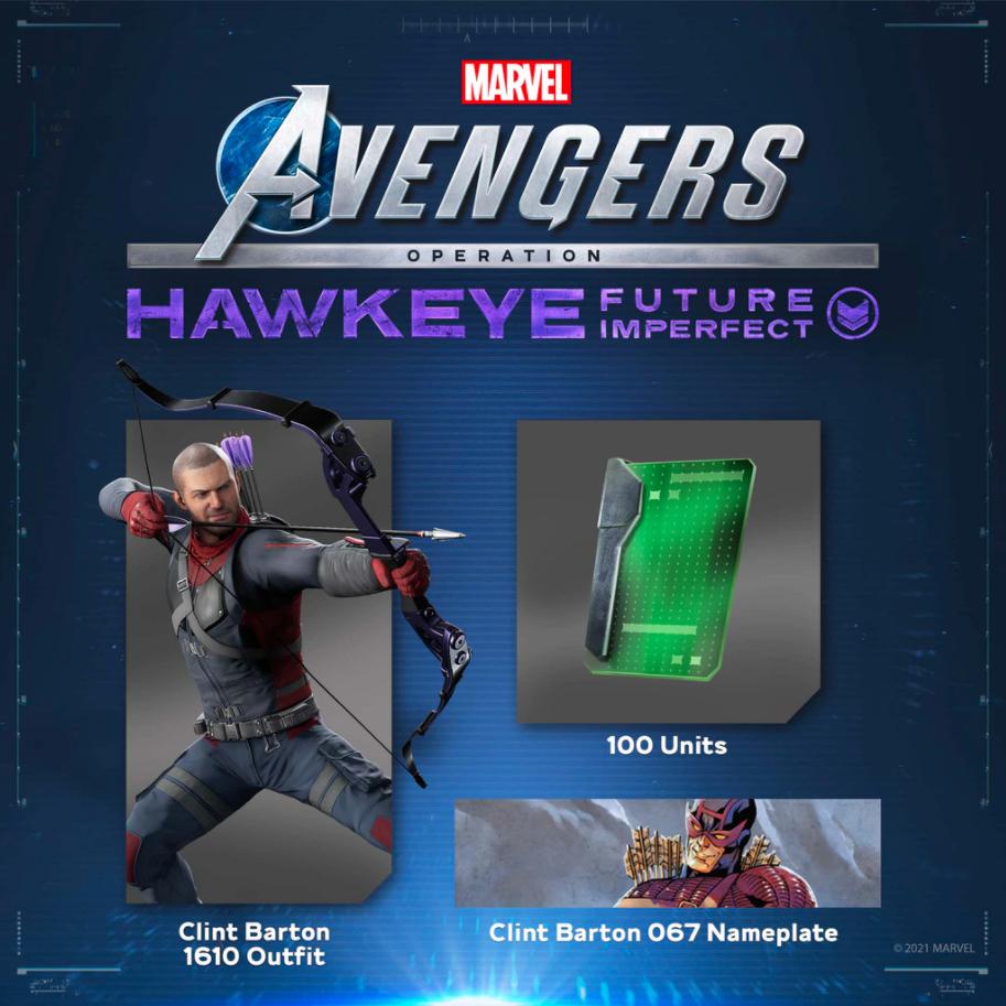 [Abonnés PS+] Tenue pour Clint Barton + Plaque d'identification + 100 Unités offerts pour Marvel's Avengers sur PS4 (Dématérialisé)