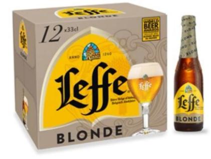 [Porteurs de Carte] 2 Packs de Bières Blondes Leffe - 2 x12 x 33cl (National sauf Exceptions)