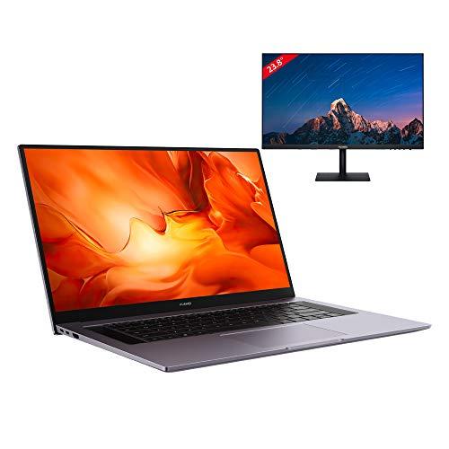 "[Précommande] PC Portable 16.1"" Huawei MateBook D16 - Ryzen 5 4600H, 16Go RAM, SSD 512G Go, Clavier QWERTZ + Ecran PC 23,8"" Huawei AD80"