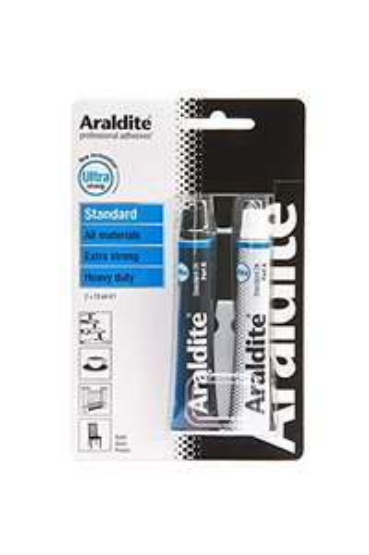 Lot de 2 tubes de colle Araldite Standard - 2x15 ml