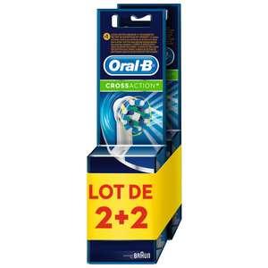 Lot de 4 Brossettes Cross action Oral-B - Divers modèles (via 11,92 € sur la carte fidélité)
