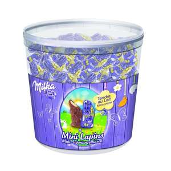 Chocolat Tubo Milka Mini Lapins Tendre au lait - 1.5Kg