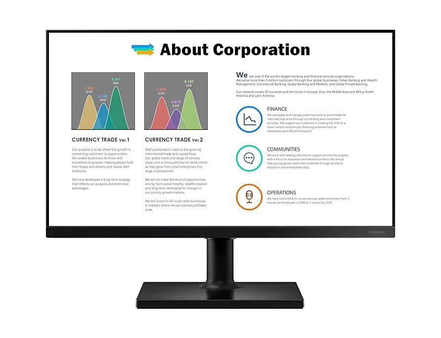 "[Étudiants] Ecran PC 24"" Samsung T450F - Full HD, Dalle IPS, 75 Hz, 5 ms, FreeSync"