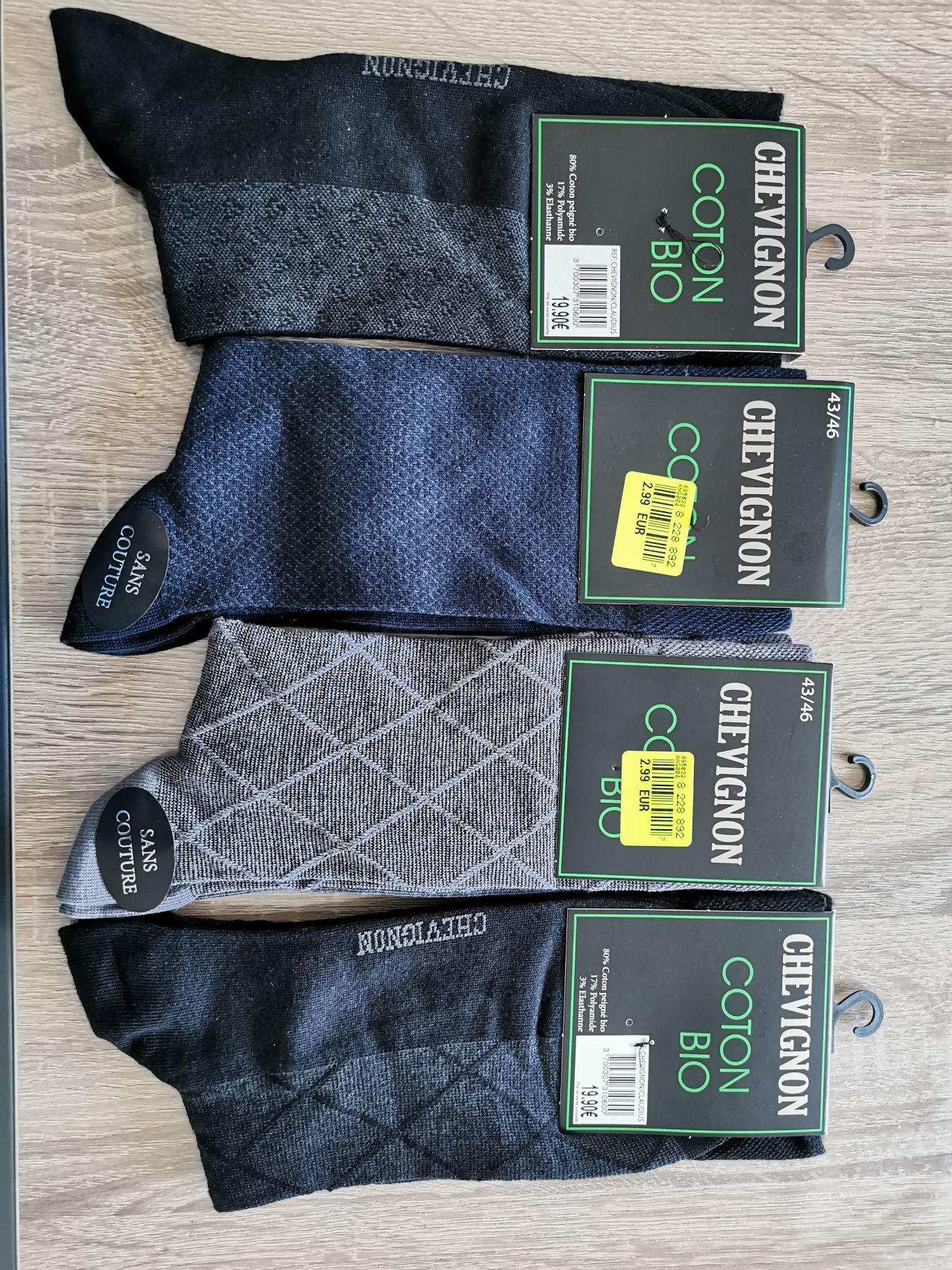 1 Paire de Chaussettes Chevignon en coton bio - Gournay-en-Bray (76)