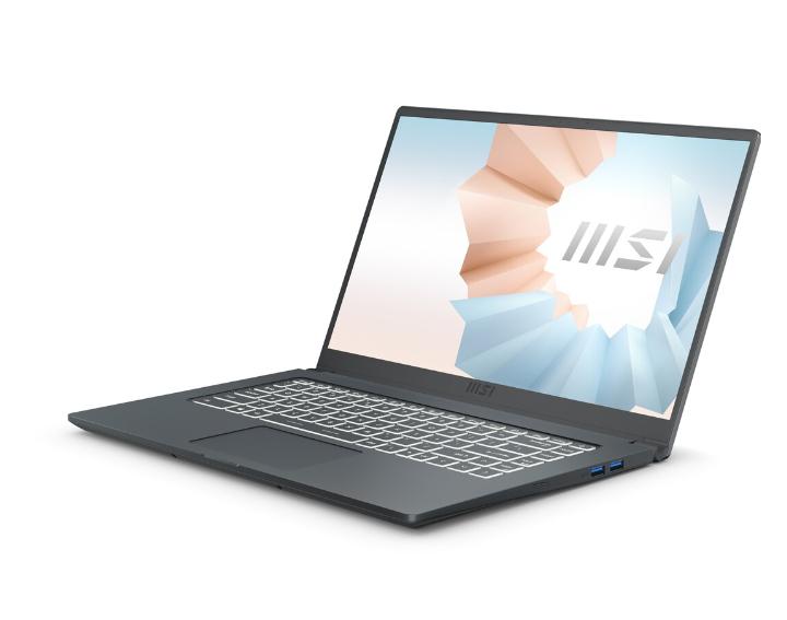 "PC portable 15.6"" MSI Modern 15 A11M-009FR - i7-1165G7, SSD 512Go, 8Go de Ram"