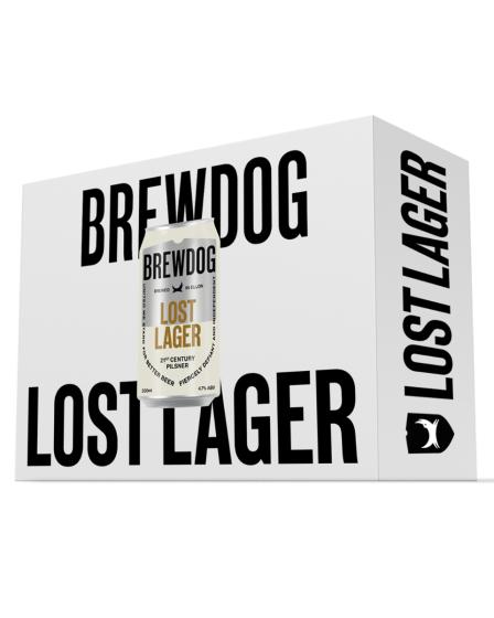 24 Cannettes de bière Brewdog Lost Lager - 24x33cl (brewdog.com)