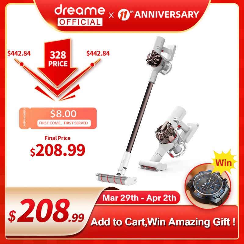 Aspirateur à main Dreame XR Premium - 450W, 140AW, 22000Pa (161,76€ via code PASSION20)