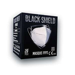 Lot de 20 masques Black Shield FFP2 - Blancs (Vendeur tiers)