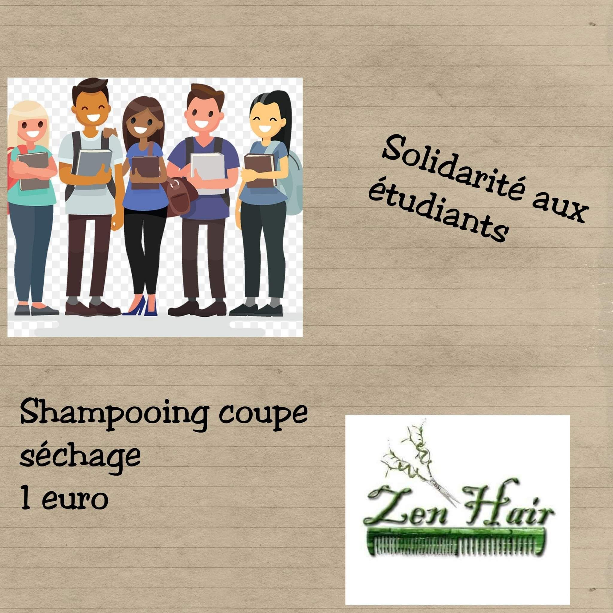 [Étudiants] Shampooing coupe séchage à 1€ - Salon de coiffure Zen'Hair (Longeville-Lès-Metz 57)