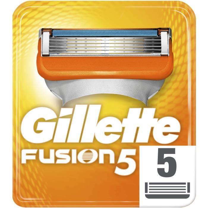 Pack de 5 Lames de rasoir Gillette Fusion 5