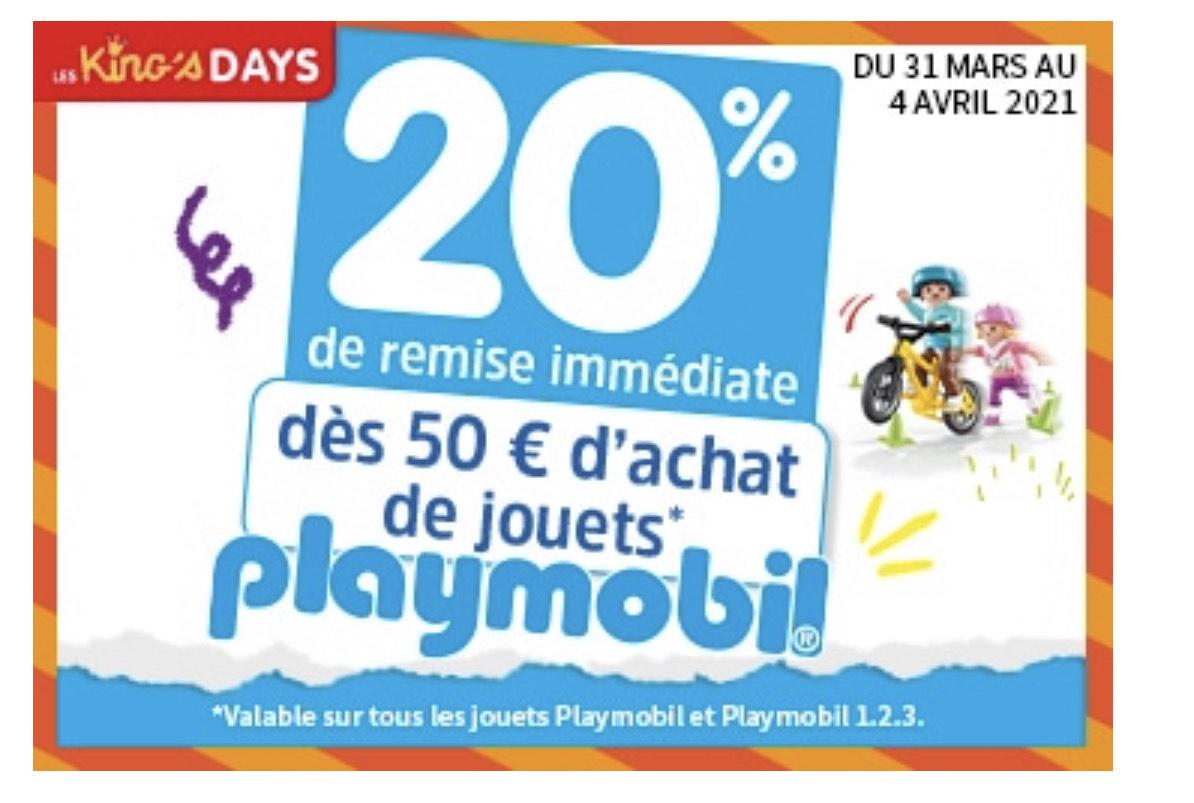 20% de remise sur les Playmobil dès 50€ d'achat
