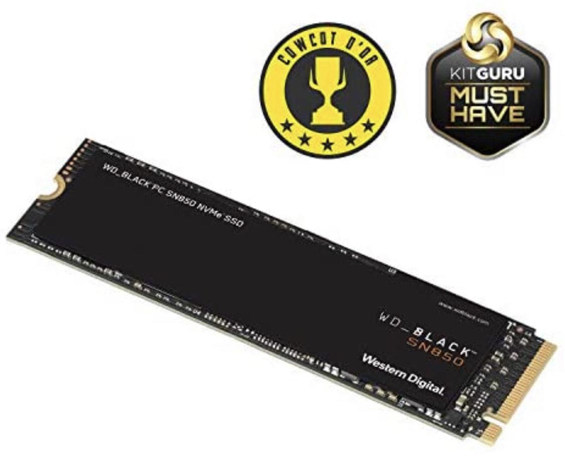 SSD interne M.2 NVME Gen4 WD_BLACK SN850 (TLC, DRAM) - 1To