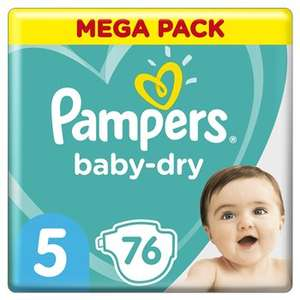 Méga Pack de Couches Pampers Baby Dry - Tailles au choix