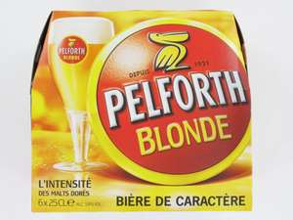 Pack de 12x25CL Bière Pelfort Blonde (Dispo en Carlsberg et Affligem)