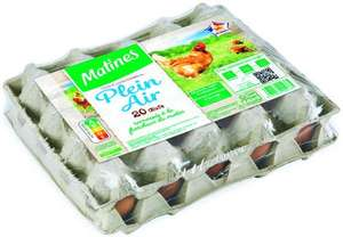 Boîte de 20 œufs Matines Plein Air