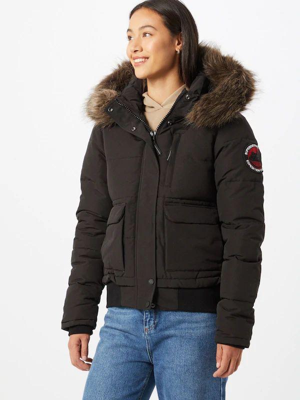 [Femme] Veste d'hiver Superdry Everest Bomber - Noir, pour homme (voir description)