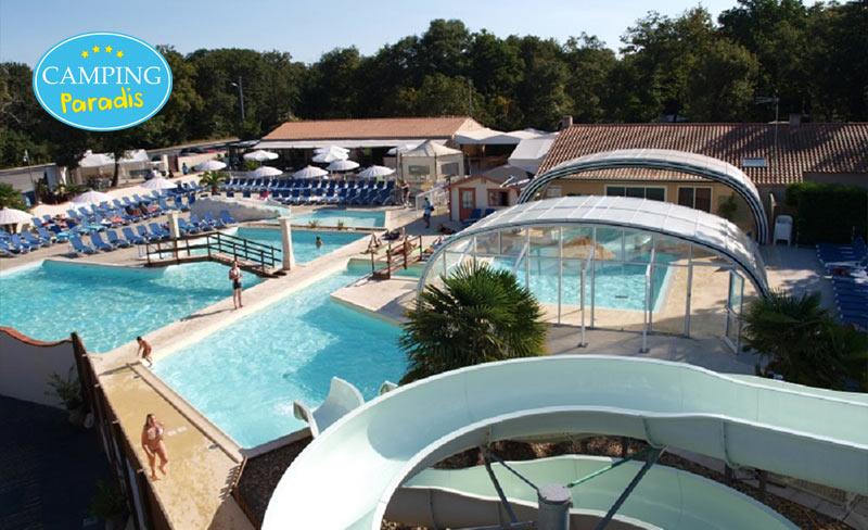 Camping Paradis Domaine des Charmilles 4* à partir de 139€ la semaine - Saint Laurent de la Prée (17)