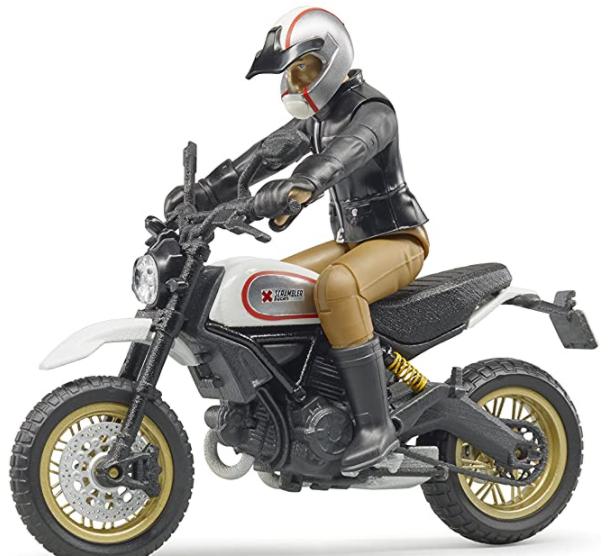 Moto Bruder 63051 Ducati Desert Sled avec Motard (Vendeur tiers)