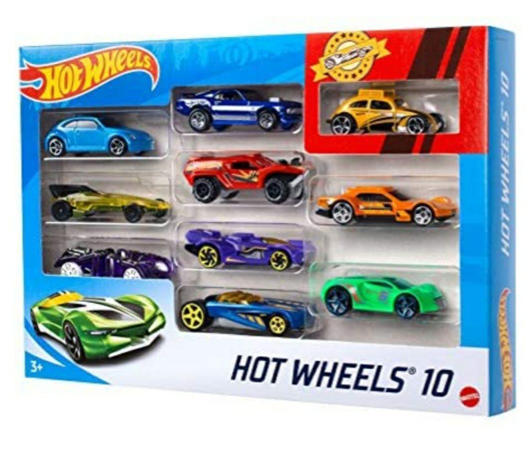 Coffret 10 véhicules Hot Wheels 54886 - modèle aléatoire
