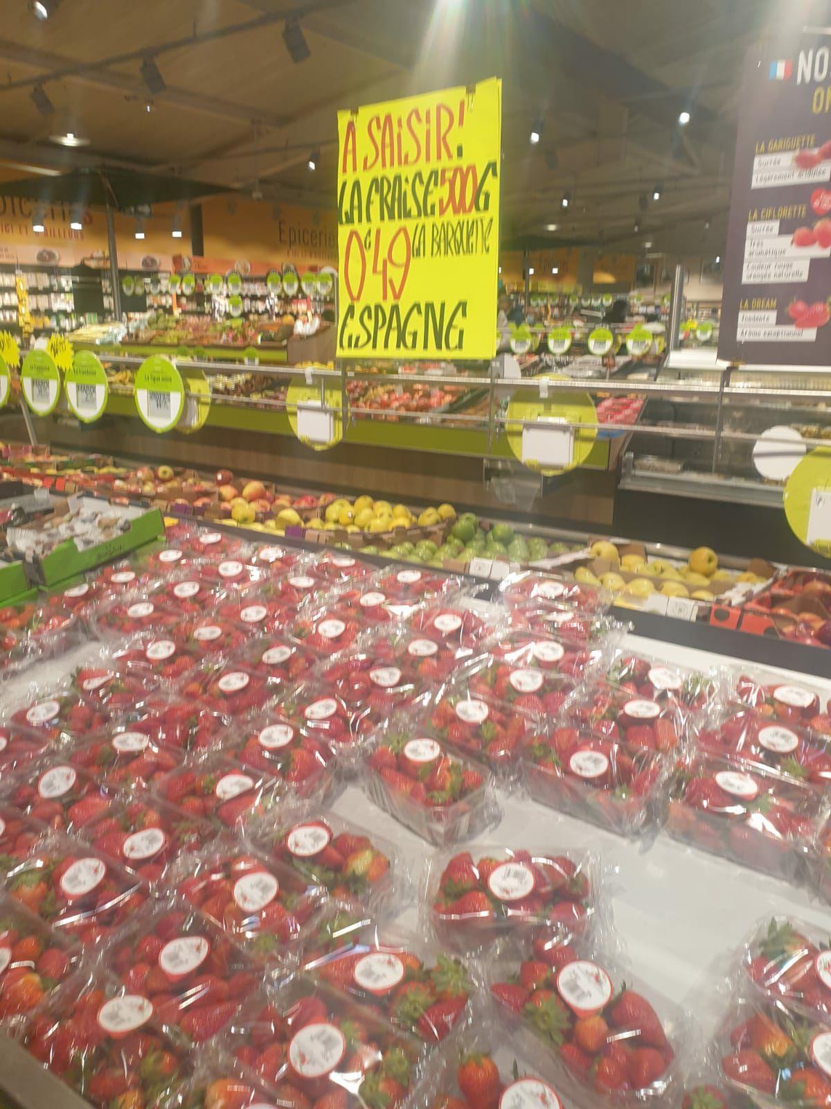 Barquette de fraise (500g) - Aulnoy-lez-valenciennes (59)