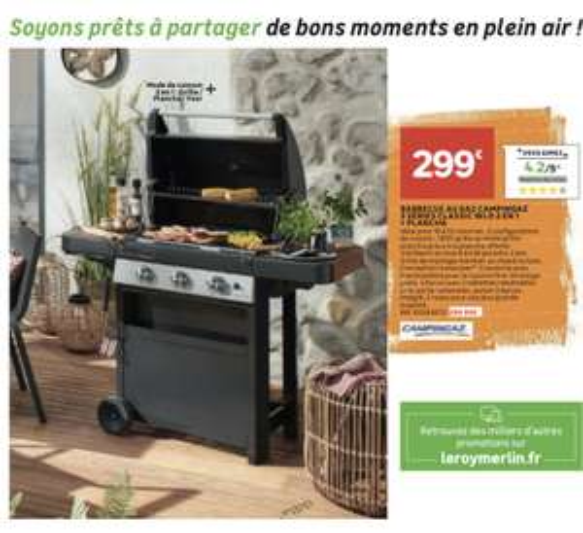 Barbecue plancha Campingaz WLD 2 en 1
