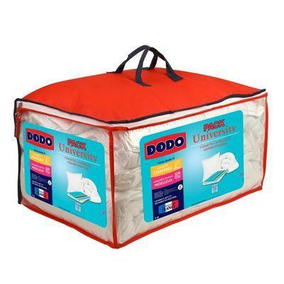 Pack Dodo University : Couette tempérée 220x240cm + 2 Oreillers moelleux 60x60cm