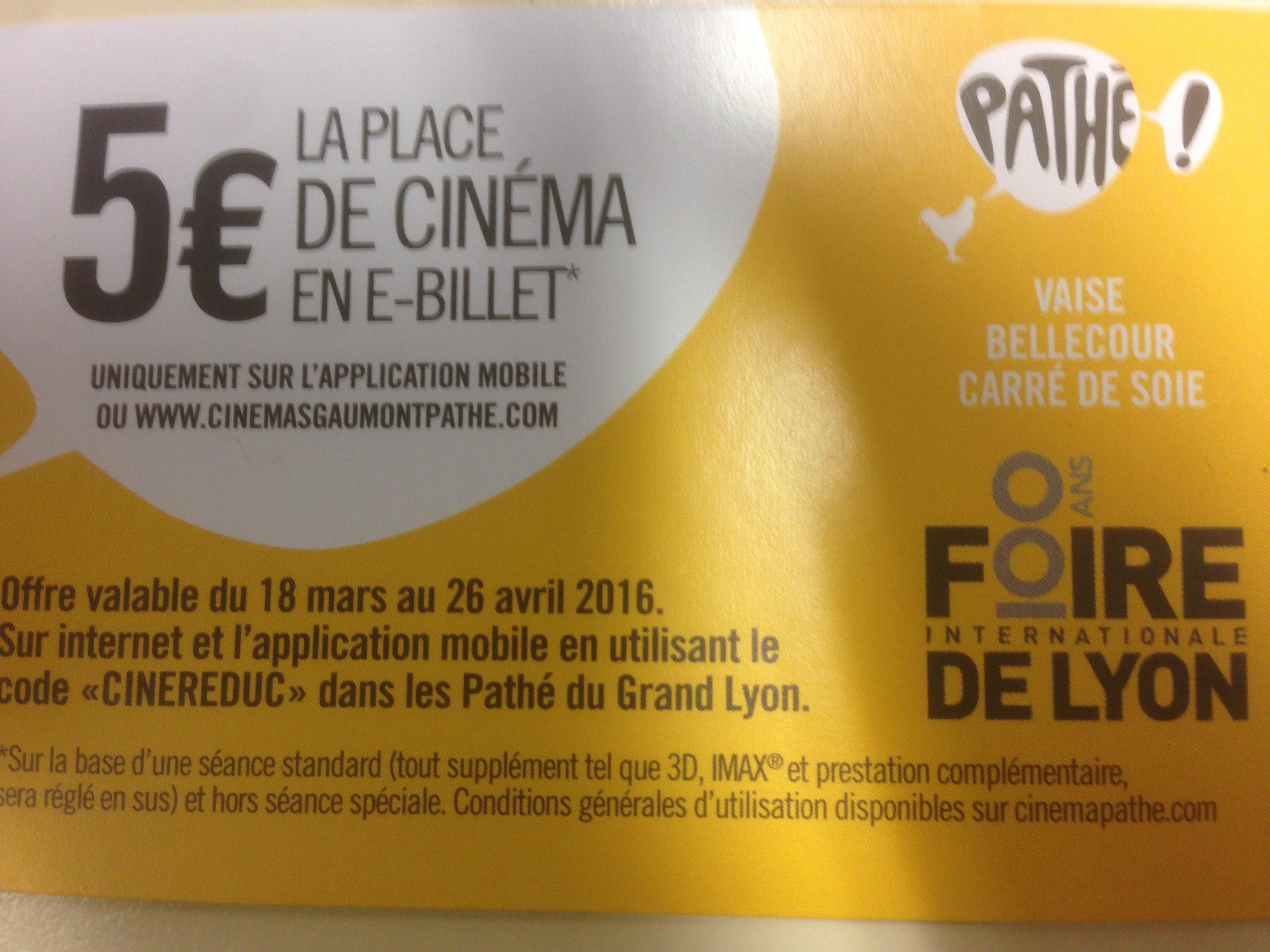 Place de Cinéma Pathé Grand Lyon (69)