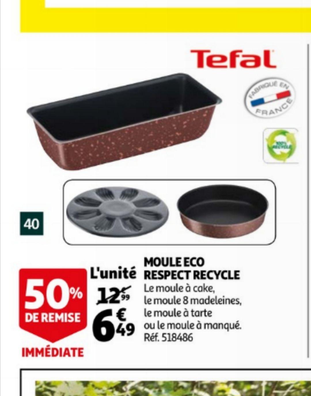 50% de réduction sur une sélection de moules Tefal - Ex: Moule à cake