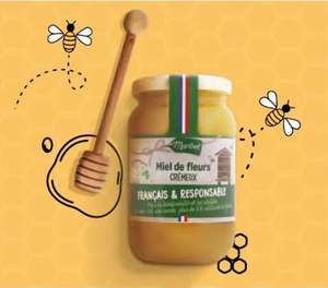 Miel de fleurs Crémeux Maribel - Origine France, 500g