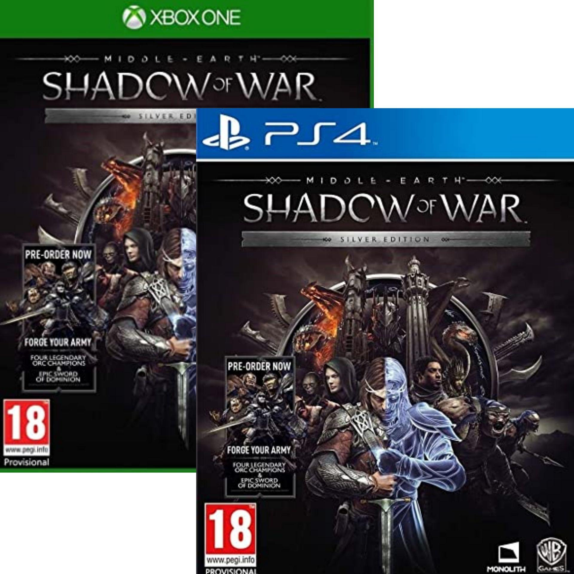 Jeu La Terre du Milieu : L'Ombre de la Guerre - Silver Edition sur PS4 ou Xbox One