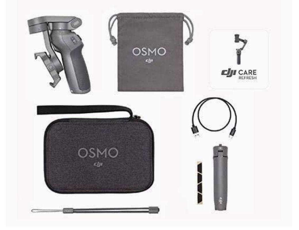 DJI Osmo Mobile 3 Prime Combo - Kit Stabilisateur de Cardan 3 Axes avec Care Refresh (Frais d'importation inclus)