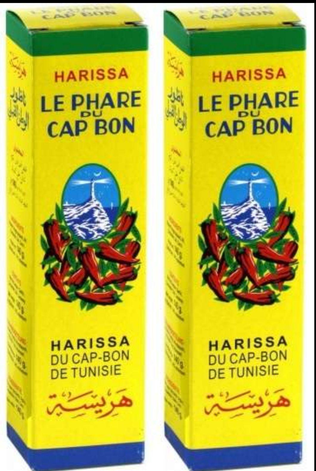 Lot de 2 tubes de 140g de Harissa de Tunisie Le Phare du Cap-Bon (2x140g)