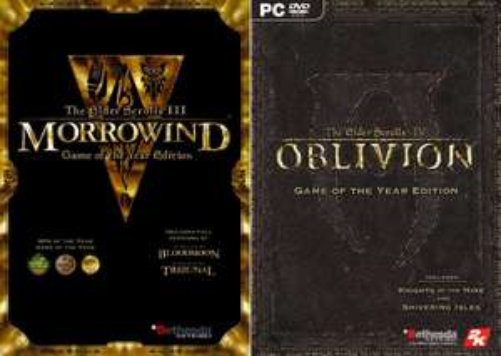 The Elder Scrolls III: Morrowind - Game of the Year Edition ou The Elder Scrolls IV: Oblivion GOTY sur PC (Dématérialisés - Steam)