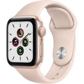 Montre connectée GPS Apple Watch SE - 40mm, Boitier Aluminium Or & Bracelet Rose