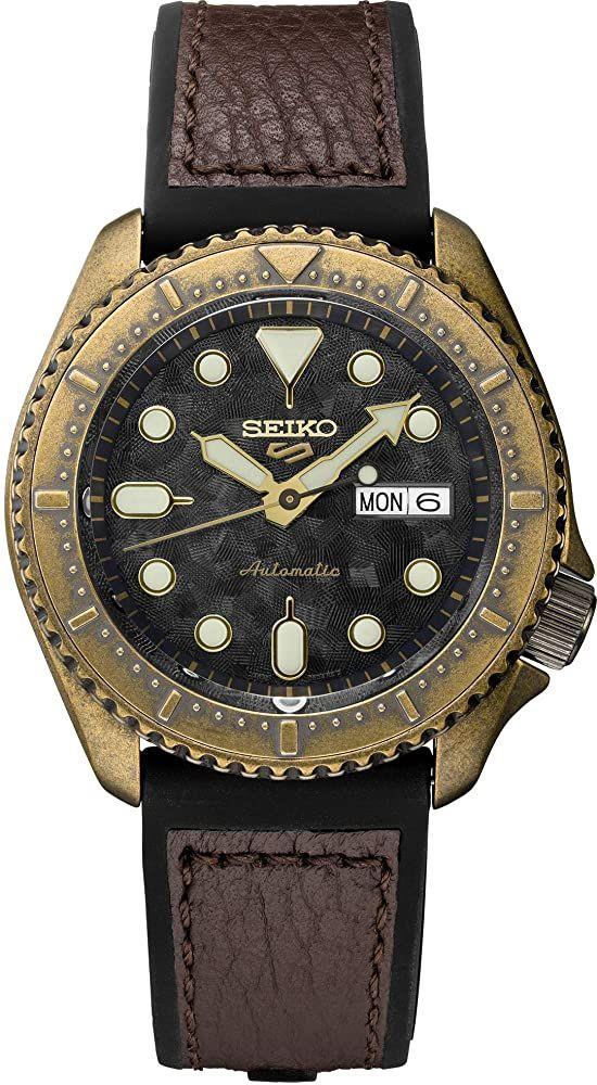 Montre Automatique Homme Seiko SRPE80 - 42.5mm, Coloris bronze (Frais d'importation et de douane inclus)