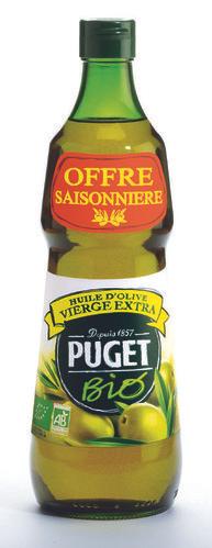 3 Bouteilles d'Huile d'olive vierge extra bio Puget - 75cl