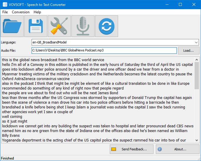 Logiciel Speech to Text Converter (Convertir l'audio en texte) gratuit à vie sur PC (Dématérialisé)