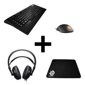 Pack Gaming Steelseries : Casque Siberia V2 + Clavier Apex Raw + Souris Rival + Tapis + Far Cry Primal