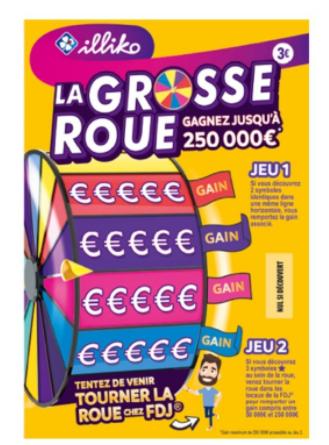 1 ticket à gratter Illiko La grosse roue acheté = 1 ticket offert (via l'Application)