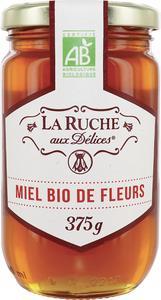 """Lot de 2 pots de 375g de miel Bio de fleurs """"La Ruche aux Délices"""" - 2 x 375g"""