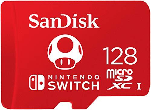 Carte mémoire microSDXC SanDisk pour Nintendo Switch - 128 Go