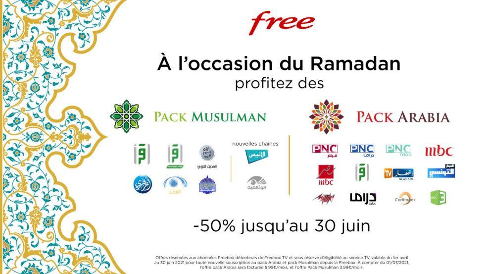 [Freebox TV] 50% de remise sur les Packs Arabia et Musulman pendant 3 mois