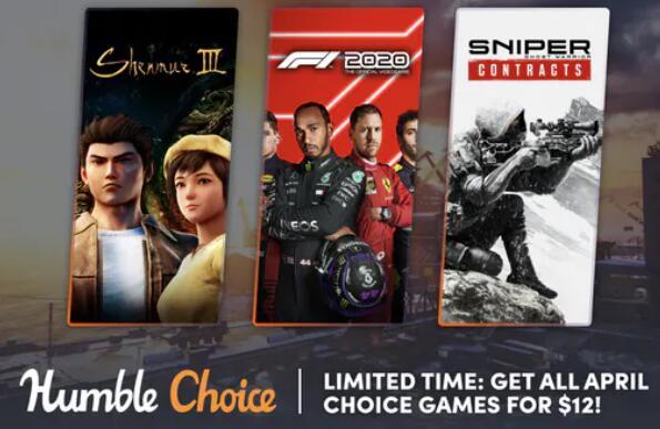 Humble Bundle Choice Avril 2021 : Sniper Ghost Warrior Contracts + F1 2020 + 10 Jeux sur PC (Dématérialisé - Steam)