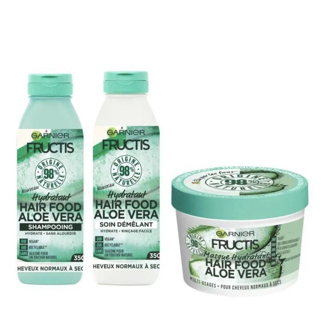 Kit Garnier Fructis : Ma Routine Hydratation Cheveux Complète Hair Food Aloe