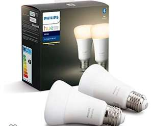 Lot de 2 ampoules Philips Hue White E27 avec Bluetooth (frais d'importation inclus)