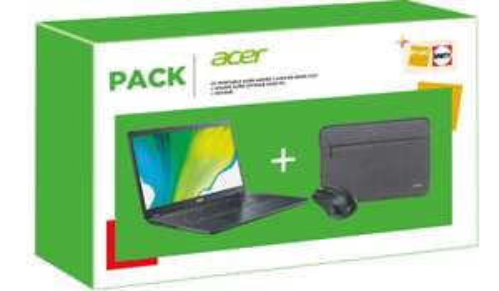 "Pc Portable 15.6"" Acer Aspire A315-56-33WN - i3-1005G1, 8Go RAM, 256Go SSD + Souris sans-fil + Housse"