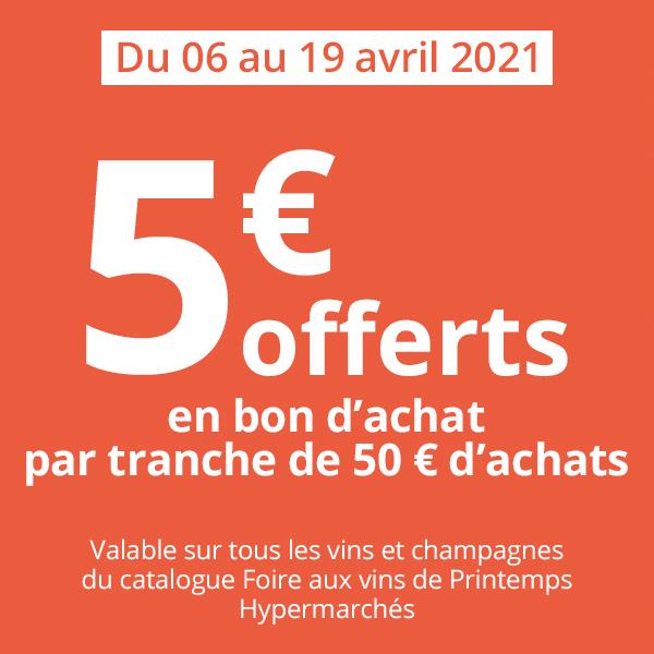 [Carte Pass ]5€ offerts en bon d'achat par tranche de 50 € d'achat (Carrefour Banque)