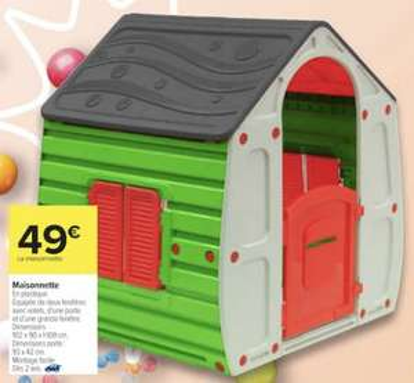 Maisonnette extérieure pour enfants - 102 x 90 x 109 cm