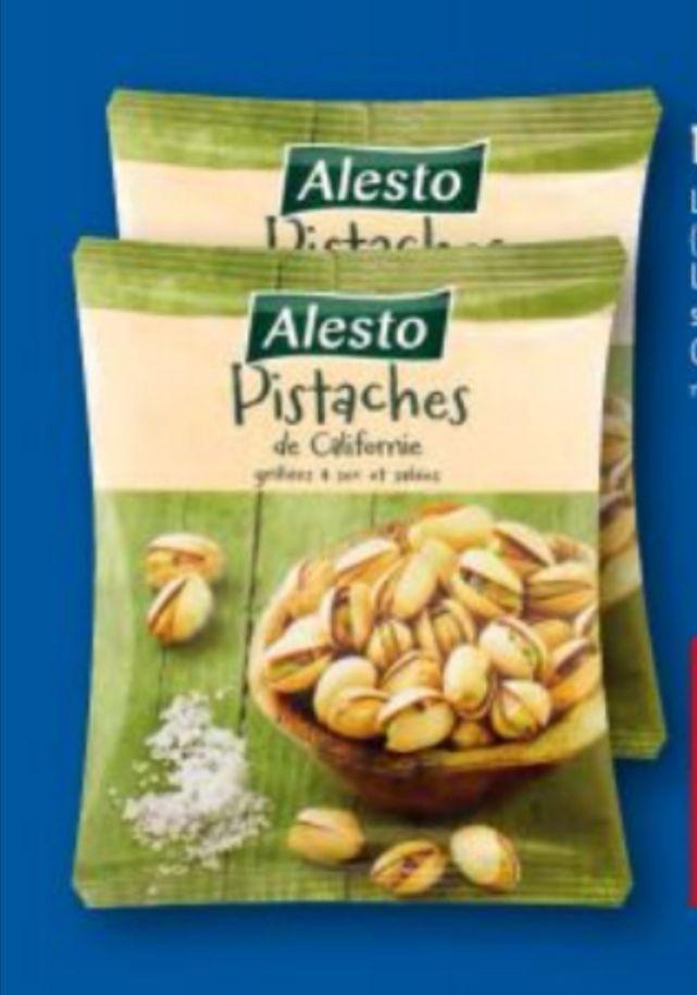 Lot de 2 paquets de 250g de pistaches grillées et salées Alesto (2x250g)