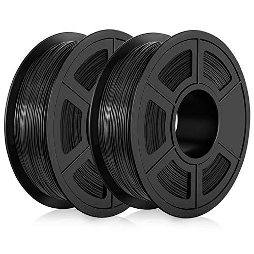 Lot de 2 bobines de PLA pour impression 3D - 2 Kg, 1.75mm, Noir (vendeur tiers)